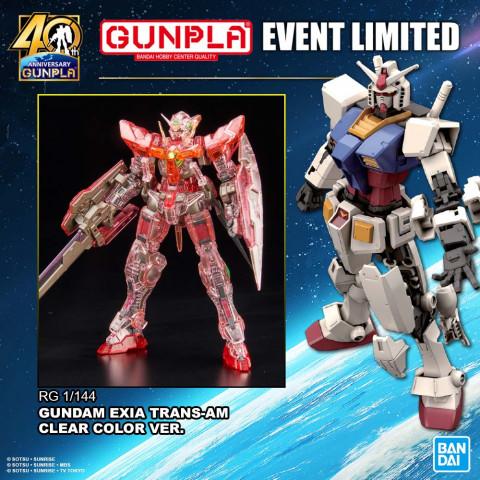 RG 1/144 Gundam Exia Trans-am Clear Ver.