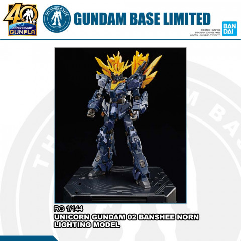 RG 1/144 THE GUNDAM BASE LIMITED UNICORN GUNDAM 02 BANSHEE NORN (DESTROY MODE) (LIGHTING MODEL)