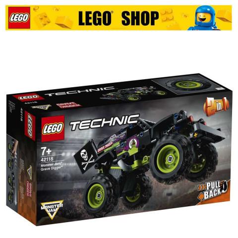 LEGO® Technic 42118 Monster Jam® Grave Digger®, Age 7+, Building Blocks, 2021 (212pcs)