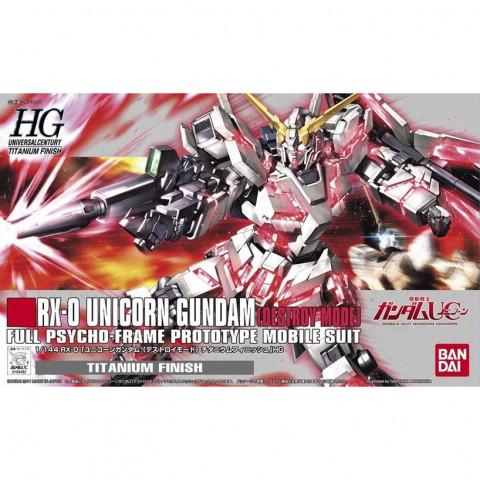 Gundam HGUC 1/144 Unicorn Gundam Destroy Mode Titanium Finish Ver.
