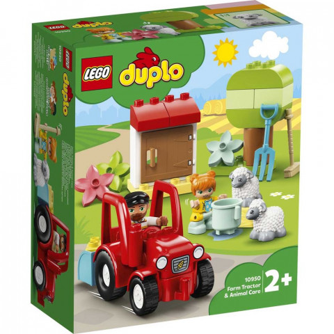 LEGO® Duplo 10950 Farm Tractor & Animal Care, Age 2+, Building Blocks, 2021 (27pcs)
