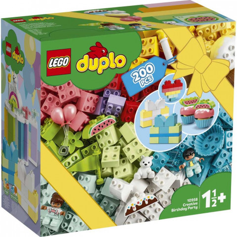 LEGO® Duplo 10958 Creative Birthday Party, Age 1½+, Building Blocks, 2021 (200pcs)