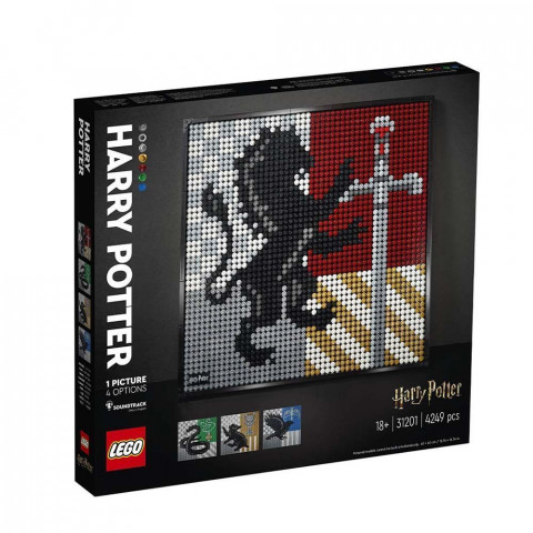 LEGO® Art 31201 Harry Potter™ Hogwarts™ Crests, Age 18+, Building Blocks, 2021 (4249pcs)