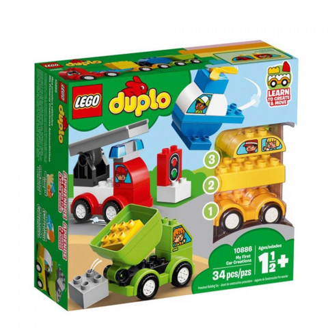 LEGO® Duplo 10886 My First Car Creations, Age 1½+, Building Blocks, (34pcs)