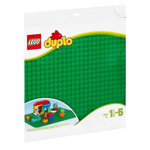 LEGO® Duplo 2304 LEGO® DUPLO® Large Green Building Plate, Age 1½+, Building Blocks, (1pc)