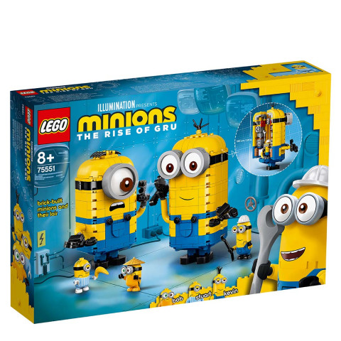 LEGO® 75551 Minions Brick-Built Minions And Their Lair, Age 8+ Building Blocks, 2021 (136pcs)