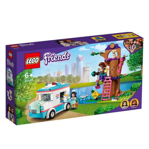LEGO® 41445 Friends Vet Clinic Ambulance, Age 6+, Building Blocks, 2021 (304pcs)
