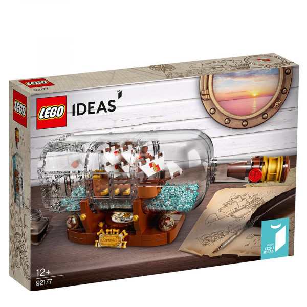 LEGO® 92177 Ideas Ship In A Bottle, Age 12+ Building Blocks, 2021 (258pcs)