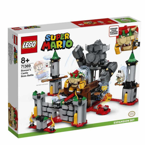 LEGO® Super Mario™ 71369 Bowser's Castle Boss Battle Expansion Set, Age 8+, Building Blocks, 2020 (1010pcs)