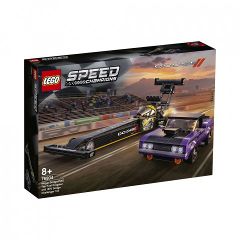 LEGO® Speed Champions 76904 Mopar Dodge//SRT Top Fuel Dragster and 1970 Dodge Challenger T/A, Age 8+, Building Blocks, (627pcs)