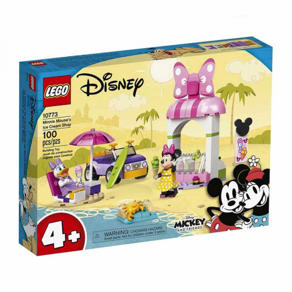 LEGO® Mickey and Friends 10773 Minnie Mouse's Ice Cream Shop, Age 4+, Building Blocks, 2021 (100pcs)