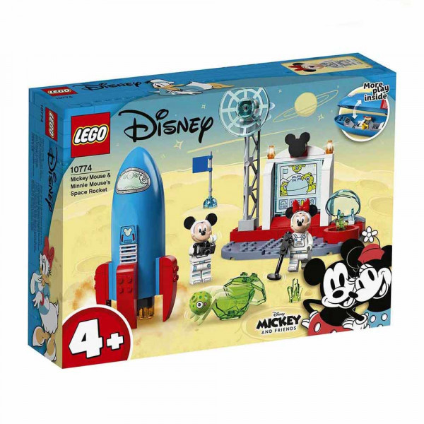 LEGO® Mickey and Friends 10774 Mickey Mouse & Minnie Mouse's Space Rocket, Age 4+, Building Blocks, 2021 (88pcs)