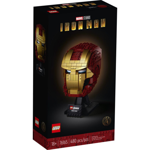 LEGO® Super Heroes 76165 Iron Man Helmet, Age 18+, Building Blocks, 2020 (480pcs)