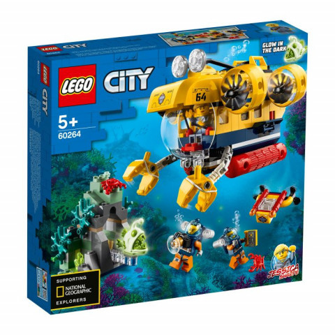 LEGO® City 60264 Ocean Exploration Submarine, Age 5+, Building Blocks, 2020 (286pcs)