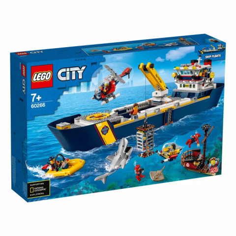 LEGO® City 60266 Ocean Exploration Ship, Age 7+, Building Blocks, 2020 (745pcs)