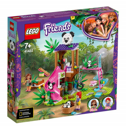LEGO® Friends 41422 Panda Jungle Tree House, Age 7+, Building Blocks, 2020 (265pcs)