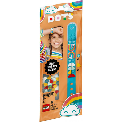 LEGO® DOTS 41900 Rainbow Bracelet, Age 6+, Building Blocks, 2020 (33pcs)