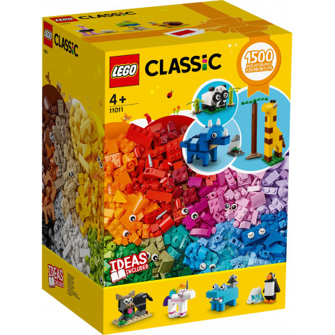LEGO® Classic 11011 Bricks and Animals, Age 4+, Building Blocks, 2020 (1500pcs)