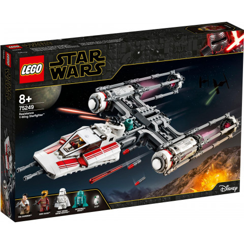 LEGO® Star Wars™ 75249 Resistance Y-Wing Starfighter™, Age 8+, Building Blocks (578pcs)