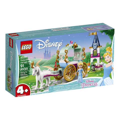 LEGO® Disney Princess 41159 Cinderella's Carriage Ride, Age 4+, Building Blocks (91pcs)