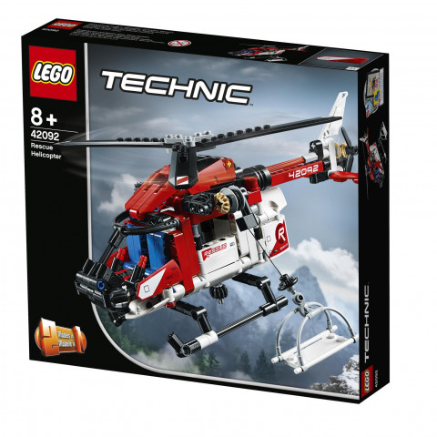 LEGO® Technic 42092 Rescue Helicopter, Age 8+, Building Blocks (325pcs)